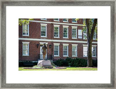 Framed Print featuring the photograph Abraham Baldwin Statue At Uga by Parker Cunningham