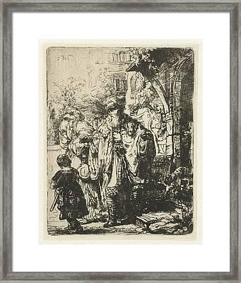 Abraham Divorces Hagar And Ishmael Framed Print