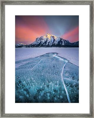Abraham Lake Splendor // Alberta  Framed Print