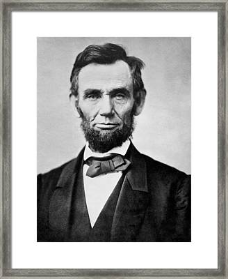 Framed Print featuring the photograph Abraham Lincoln -  Portrait by International  Images