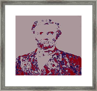Abraham Lincoln 4c Framed Print by Brian Reaves