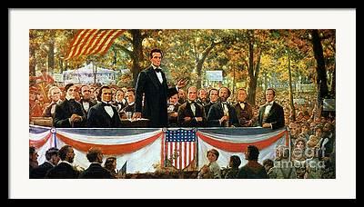 Lincoln Speech Framed Prints