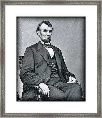 Abraham Lincoln Glass Negative Framed Print