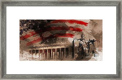 Framed Print featuring the painting Abraham Lincoln by Gull G