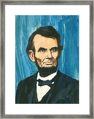 Abraham Lincoln Framed Print by Harry West