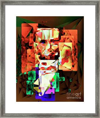 Framed Print featuring the photograph Abraham Lincoln In Abstract Cubism 20170327 by Wingsdomain Art and Photography