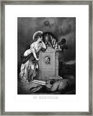Abraham Lincoln In Memoriam  Framed Print by War Is Hell Store