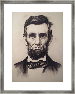 Abraham Lincoln Framed Print by Karen Tagstrom