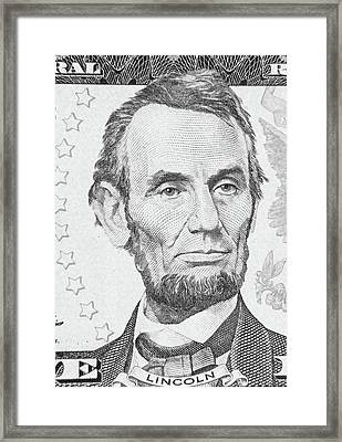 Framed Print featuring the photograph Abraham Lincoln by Les Cunliffe