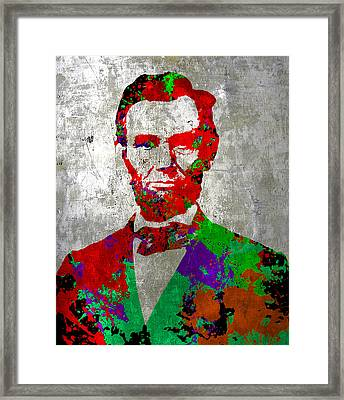 Abraham Lincoln On Silver - Amazing President Framed Print