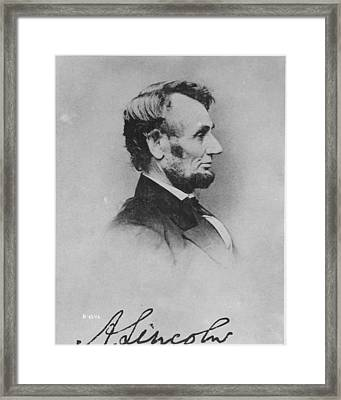 Abraham Lincoln Framed Print by Pablo Lopez