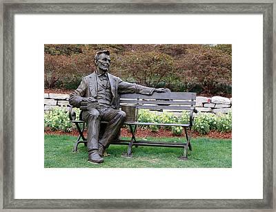 Abraham Lincoln Framed Print by Pamela Critchlow