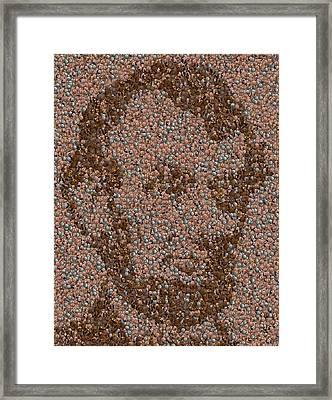 Abraham Lincoln Penny Mosaic Framed Print