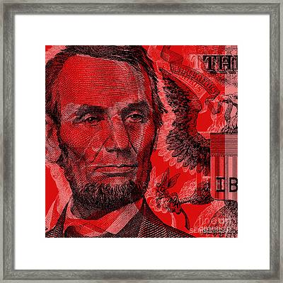 Abraham Lincoln Pop Art Framed Print