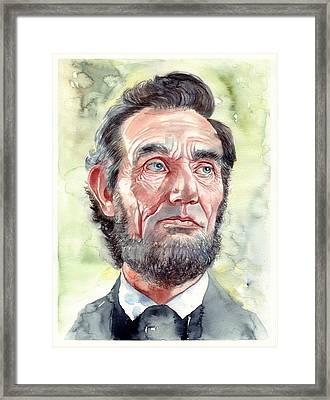 Abraham Lincoln Portrait Framed Print
