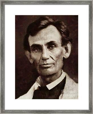 Abraham Lincoln, President Of The Usa By Sarah Kirk Framed Print