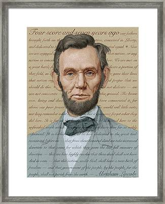 Abraham Lincoln - Soft Palette Framed Print by Swann Smith