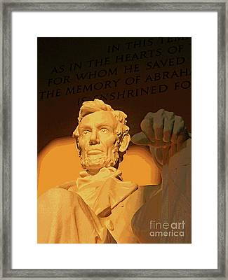 Abraham Lincoln Sunrise Framed Print