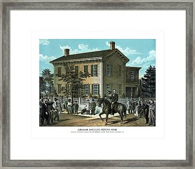 Abraham Lincoln's Return Home Framed Print