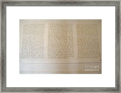 Abraham Lincoln's Second Inaugural Address Framed Print