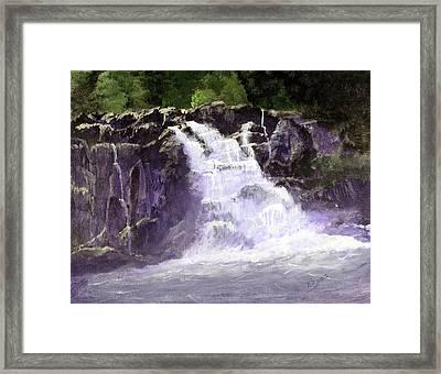 Abram's Falls Framed Print by Barry Jones