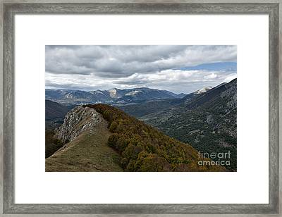 Abruzzo National Park From The Top Of The Mountain Framed Print by Luigi Morbidelli