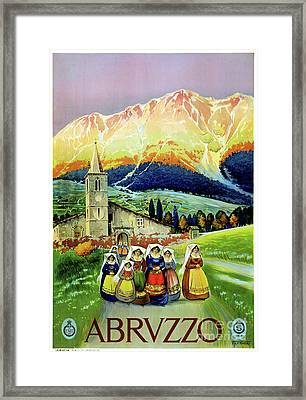 Abruzzo Vintage Travel Poster Restored Framed Print