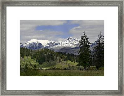 Absaroka Mts Wyoming Framed Print