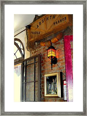 Absinthe Bar Framed Print by Ted Hebbler