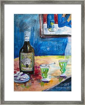Absinthe For Two Framed Print by Ginette Callaway