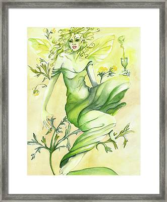 Absinthe-the Green Fairy Framed Print by Nadine Dennis