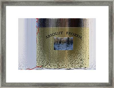 Absolut Frozen Framed Print by Ove Rosen