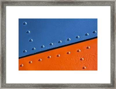 Framed Print featuring the photograph Absolutely Riveting by Paul Wear