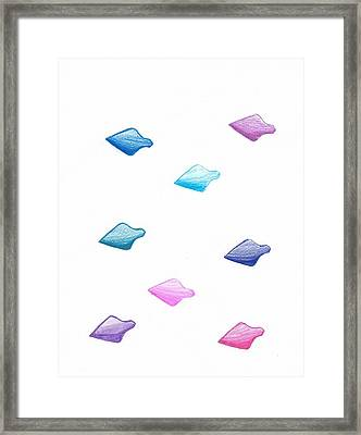Absract Colored Arrowheads Framed Print by Chetan Lad