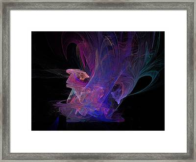 Abstact Pink Swan Framed Print