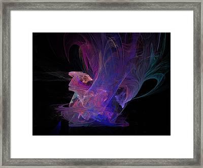 Abstact Pink Swan Framed Print