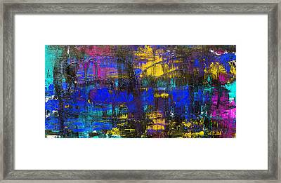 Abstract # 2 Blue Night Framed Print by Rich Franco