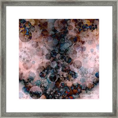 Abstract - Colorful Bubbles Framed Print by Michal Boubin