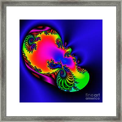 Abstract 03 A Tex Framed Print by Rolf Bertram