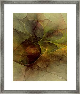 Abstract 1 Framed Print by Jean Gugliuzza