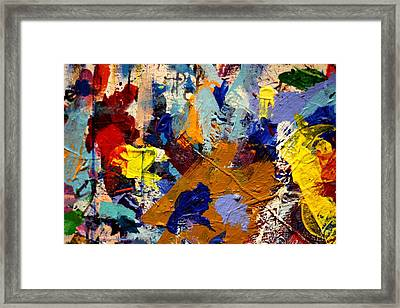 Abstract 10 Uncropped Framed Print by John  Nolan