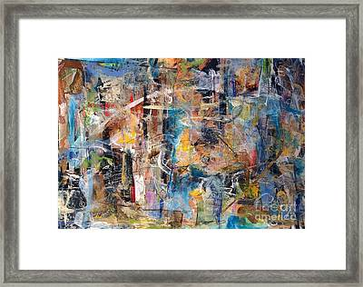 Abstract #101514 Framed Print by Robert Anderson
