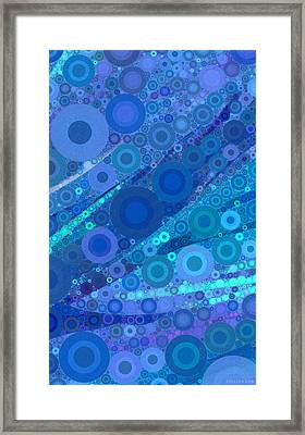 Abstract 1.1 - Turq Framed Print