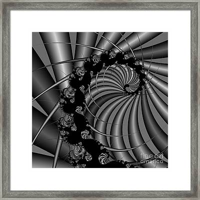 Abstract 112 Bw Framed Print by Rolf Bertram