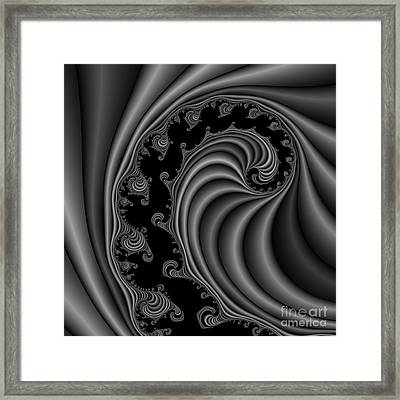 Abstract 113 Bw Framed Print by Rolf Bertram