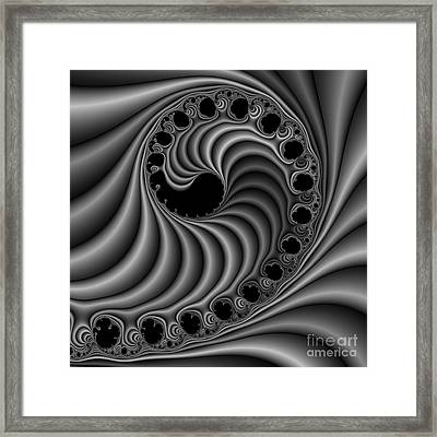Abstract 116 Bw Framed Print by Rolf Bertram