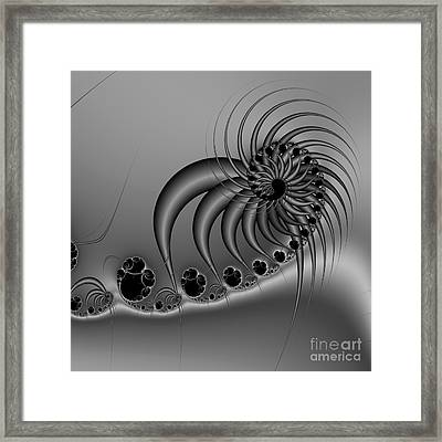 Abstract 118 Bw Framed Print by Rolf Bertram