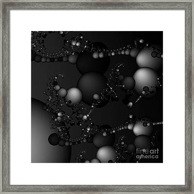 Abstract 119 Bw Framed Print by Rolf Bertram