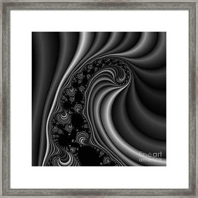 Abstract 120 Bw Framed Print by Rolf Bertram