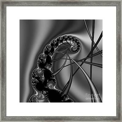 Abstract 122 Bw Framed Print by Rolf Bertram